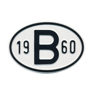 1960 B Country Plate