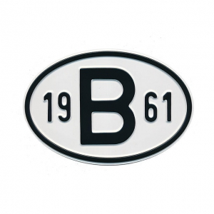 1961 B Country Plate