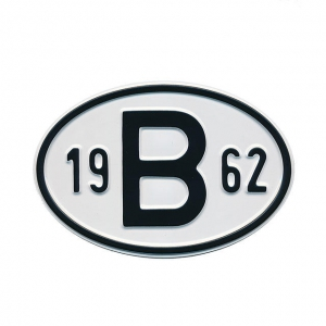 1962 B Country Plate