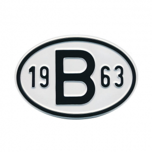 1963 B Country Plate