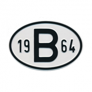 1964 B Country Plate