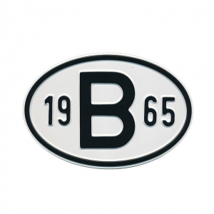 1965 B Country Plate