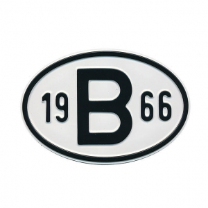 1966 B Country Plate