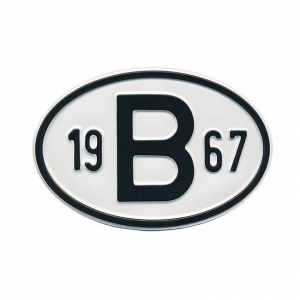 1967 B Country Plate