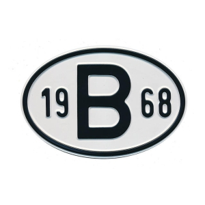 1968 B Country Plate