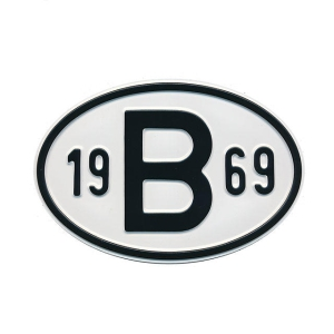 1969 B Country Plate