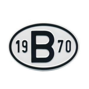 1970 B Country Plate