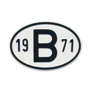 1971 B Country Plate