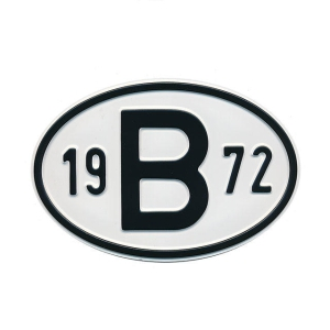 1972 B Country Plate
