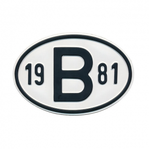 1981 B Country Plate