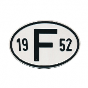 1952 F Country Plate