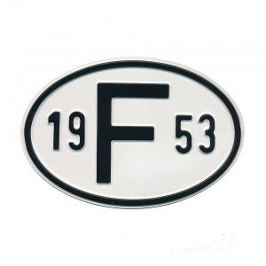1953 F Country Plate
