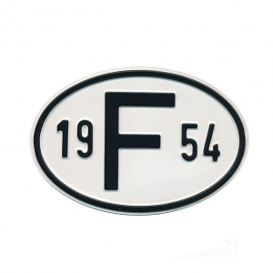 1954 F Country Plate