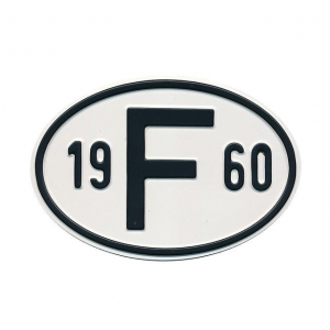 1960 F Country Plate