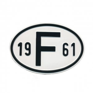 1961 F Country Plate