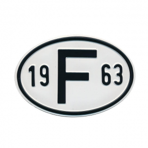 1963 F Country Plate