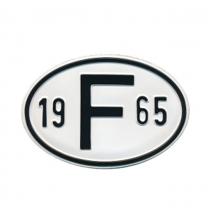 1965 F Country Plate
