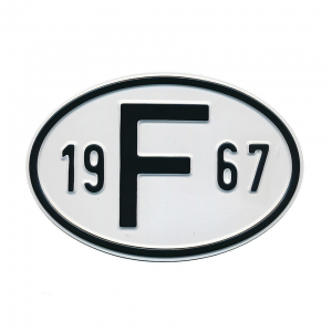 1967 F Country Plate