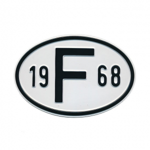 1968 F Country Plate