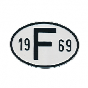 1969 F Country Plate