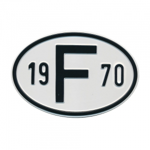 1970 F Country Plate