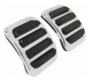 Chrome And Black Brake And Clutch Pedal Cover Set
