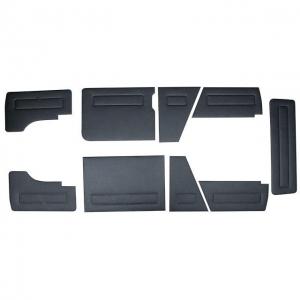 Type 25 Black Door Panel Kit - LHD - 1986-92 - 9 Piece Kit