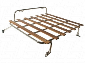 Beetle Deck Lid Luggage Rack - 1950-67 - Stainless Steel With Wooden Slats