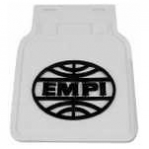 EMPI Mud Flaps - White With Black Logo