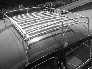 Beetle Roof Rack - Silver Frame With Wooden Slats