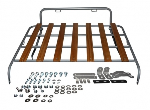 Beetle Deck Lid Luggage Rack - 1950-67 - Silver With Wooden Slats
