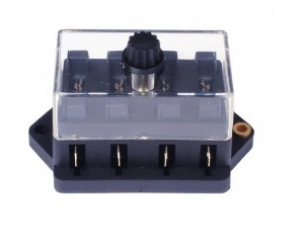 Universal 4 Pole Fuse Box - For Blade Style Fuses