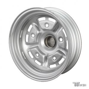 **NCA** T1 -67 + T2 -70 Grey and Black Steel Sprintstar Wheel (5.5 inch x15 Wide, +25 Offset)