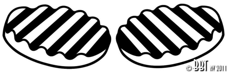 Beetle Wolfsburg Crest Badge Seals - 1947-63