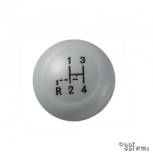 10mm Thread Grey Gear Knob With Shift Pattern - Pre 1960 - T1,KG + Pre 1967 T2