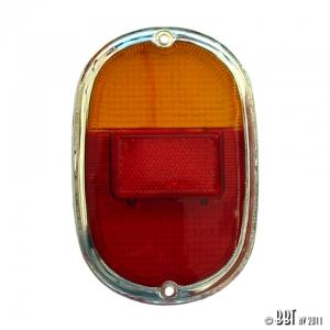 Splitscreen Bus Tail Light Lens - 1962-67 (Also Baywindow Bus - 1968-71) - Top Quality (E Marked)