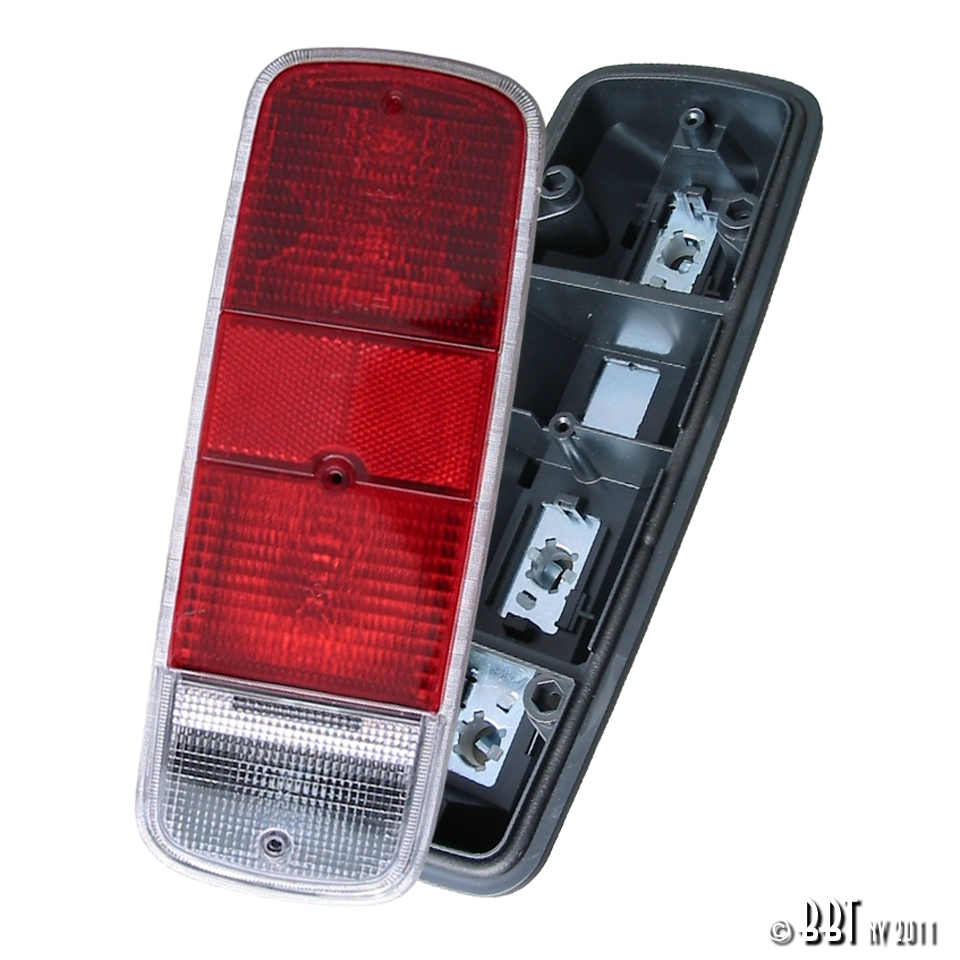 Baywindow Bus Red Tail Light Assembly - 1972-79