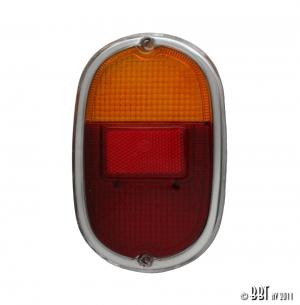 Splitscreen Bus Tail Light Lens - 1962-67 (Also Baywindow Bus - 1968-71) - Top Quality