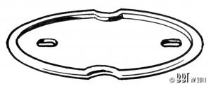 Karmann Ghia Bonnet Badge Base Seal - 1962-74