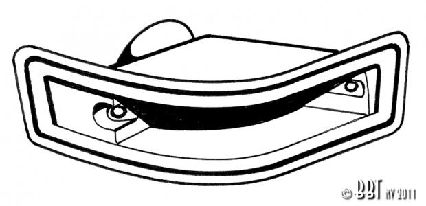 Karmann Ghia Indicator Seal - 1970-74 - Left
