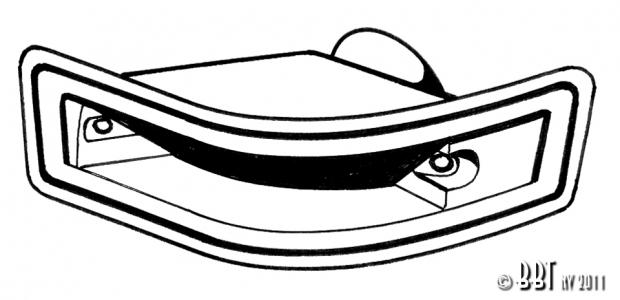 Karmann Ghia Indicator Seal - 1970-74 - Right