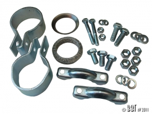 Splitscreen Bus Exhaust Tailpipe Fitting Kit (3 Piece Tailpipe) - 1963-67 (Also Baywindow Bus 1968-76)