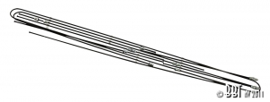 Baywindow Bus Steel Brake Line Kit - 1968-69