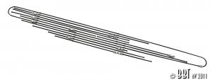 Baywindow Bus Steel Brake Line Kit - 1970 ONLY
