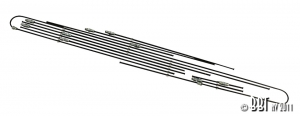 Baywindow Bus Steel Brake Line Kit - 1972 ONLY (Without Servo Brakes)
