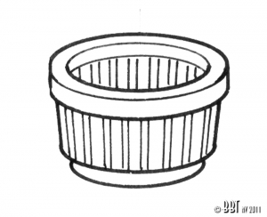 T1 75-79 + T25  Steering Column Ring (Plastic)