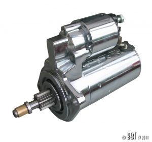 12 Volt Chrome Starter Motor - All Type 1 Engines (Baywindow Bus - 1968-75 Only)