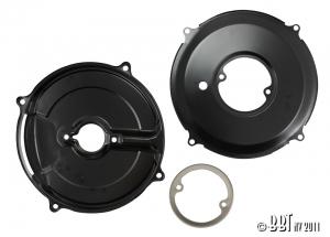 3 Piece Alternator Black Backing Plate Kit (Also Fits 30Amp Dynamo)
