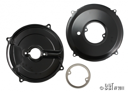 3 Piece Alternator Black Backing Plate Kit (Also Fits 30Amp Dynamo)