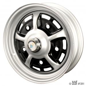 **NCA** T1 -67 + T2 -70 Grey and Black Steel Sprintstar Wheel (4.5 inch x15 Wide, +25 Offset)